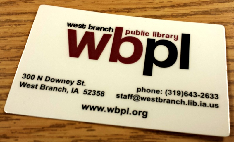 Get A Library Card  West Branch Public Library