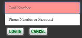Image of the login area on the library catalog page.