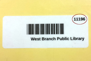 image of older library card's barcode and ID number